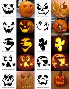 pumpkin carving template ideas  5+ Free Printable Halloween Pumpkin Carving Stencils ...