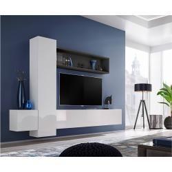 Stylefy Blex Ix Wohnwand Anbauwand Weiss Schwarz In 2020 Tv Stand Modern Design Living Room Entertainment Center Living Room Tv