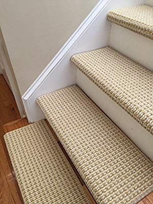 Amazon Com One Sunburst 100 New Zealand Wool Authentic Handmade True Bullnose Padded Carpet Stair Tread Runner Replacement For Dog Cat Pet Style C Escalier