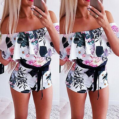 reasonably priced official images online for sale Advertisement)eBay- Women Floral Summer Mini Playsuits Off ...