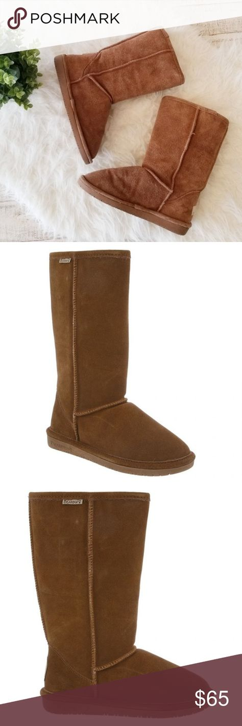 cd5803e1ca555 Bearpaw Suede Tall Boots Winter Sheep Wool High BEARPAW Emma Tall Hickory Brown  Boots are so