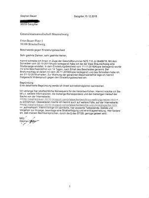 Stephanbauer38259 Beschwerdeschreiben An Die Generalstaatsanwaltscha Freie Meinungsausserung Kfz Kennzeichen Schreiben