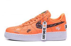 Nike Air Force 1 07 Premium JDI Just Do It Pack Total Orange AR7719 800 Men's Women's Casual Shoes Sneakers