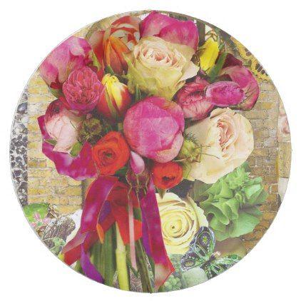 Vibrant Spring Flowers Paper Plate Zazzle Com Paper Flowers
