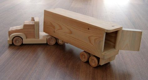 Image result for semi truck wooden toy