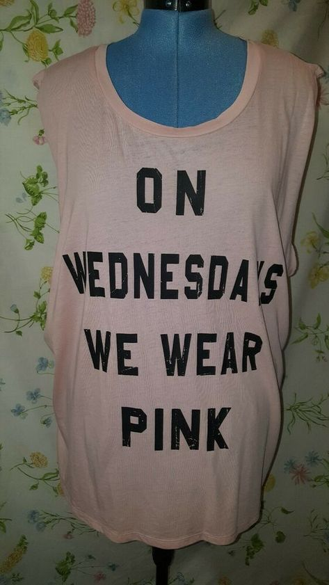 b9b8958d34d21 New Mean Girls On Wednesdays We Wear Pink Womens XXL Tank Top From Target  #fashion