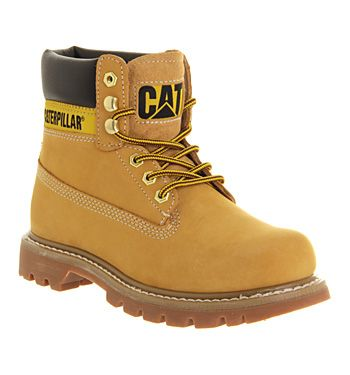 Caterpillar Colorado Boots Honey Leather Suede - Ankle Boots