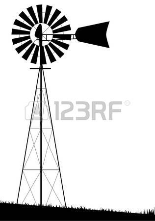 15+ Windmill Clipart Black And White