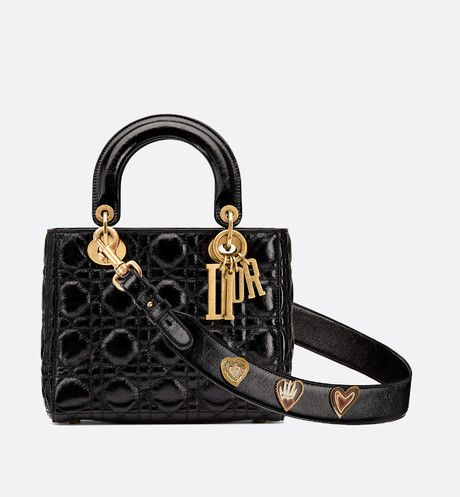 bf0aa2c806 My Lady Dior bag in black crinkled