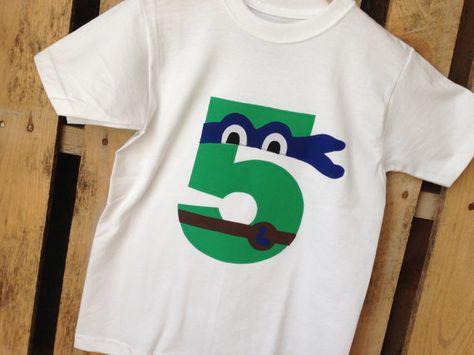 TMNT Teenage Mutant Ninja Turtles Birthday Shirt by leoandlyla, $16.00