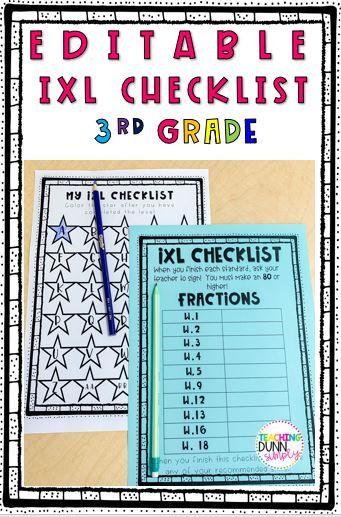 Ixl Checklist Third Grade Bundle Ixl Learning Ixl Math Math Activities Elementary