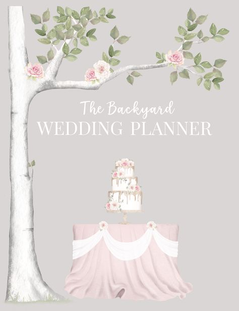 Planning a backyard wedding but not sure where to start? The Backyard Wedding Planner can help you create your floor plan, choose your rentals and decide on your menu. Includes timelines, checklists, budget worksheets and more to help you stay on track. #backyardwedding #backyardweddingceremony #backyardweddingreception #diywedding