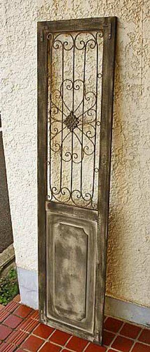 楽天市場 輸入家具 アイアン デコ ウッド ドア ブラック ブラウン