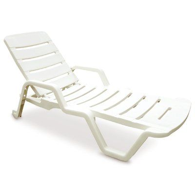 Resin Chaise Lounger White Outdoor Chairs Home Decor Outdoor