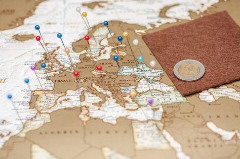 A Gratter Gratter Carte Monde Carte Affiche Par Checkthemap Sur