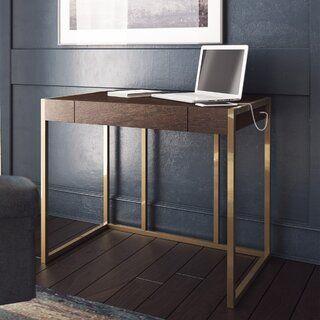 Wrought Studio Masha Writing Desk Wayfair Solid Wood Writing Desk Desk Wood Writing Desk