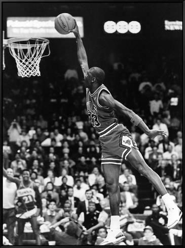 Framed Canvas Print Black And White Framed Art By Vandell Cobb 32x24in Michael Jordan Basketball Michael Jordan Micheal Jordan