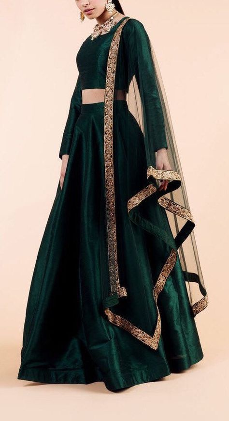 Excited to share this item from my shop: Emerald green Indian designer wedding engagement lehenga skirt indian bridesmaids outfit indian traditional lengha dress sangeet mehendi