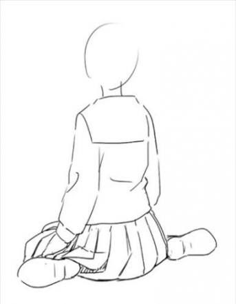 Trendy Drawing Reference Sitting Sketch Ideas Drawing Anime