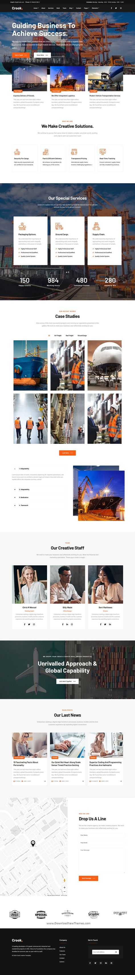Logistics - One and Multi-Page Multipurpose Template