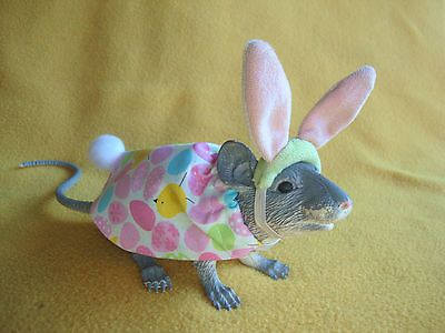 Easter Bunny Costume with Multicolored Ears for Rat  bn RATty