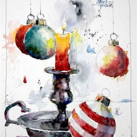 Christmas Watercolor Painting Ideas Watercolor Christmas Cards
