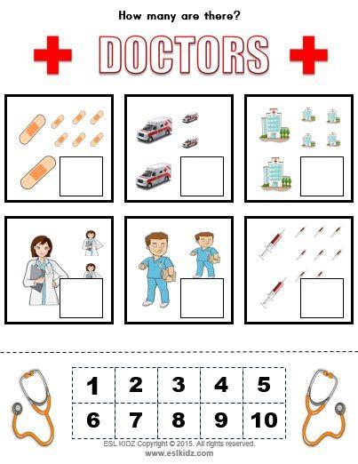 Doctor Hospital Classroom Center Activity Bundle Math Activities For Toddlers Preschool Activities Doctor For Kids Hospital worksheets kindergarten