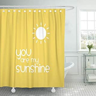 Accrocn Waterproof Shower Curtain Curtains Fabric You Are My