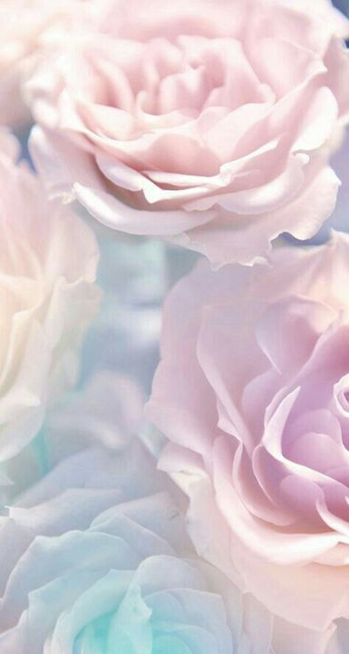Flower wallpaper light pink background
