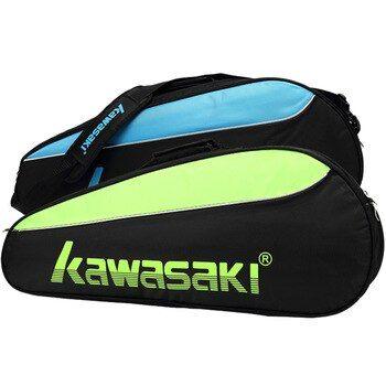 Badminton Bag Kawasaki Double Deck Single Shoulder With 6 Racket Tennis Racquet Shoes Pocket Training Shuttlecock Gym In 2020 Badminton Bag Gym Backpack Tennis Racquet
