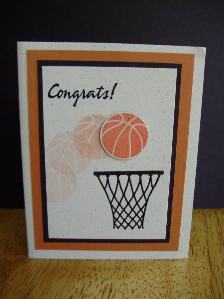 Basketball Congrats By Dcinkit Cards And Paper Crafts At Splitcoaststampers Avec Images Cartes Pour Garcon Carte Cartes