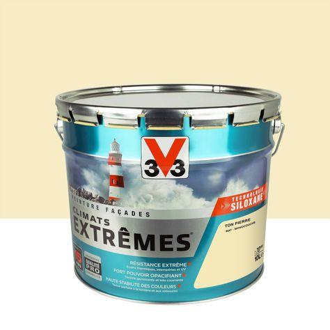 Peinture Façade Climats Extrêmes V33 Ton Pierre 10 L En