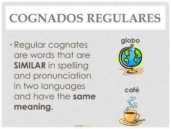 Los Cognados Spanish Cognates Interactive Notebook Interactive