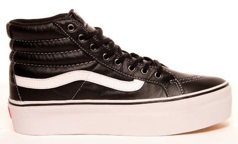 Vans Sk8 Hi Platform, leather black, 8,5 Vans. The last pair of them ...