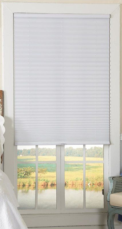 Cordless Semi Sheer White Pleated Shade House Blinds Blinds For Windows Best Blinds