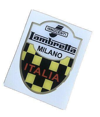 RESIN 3D MILANO ITALIA BADGE LAMBRETTA INNOCENTI ACCESSORY SCOOTER Li Tv Sx Gp