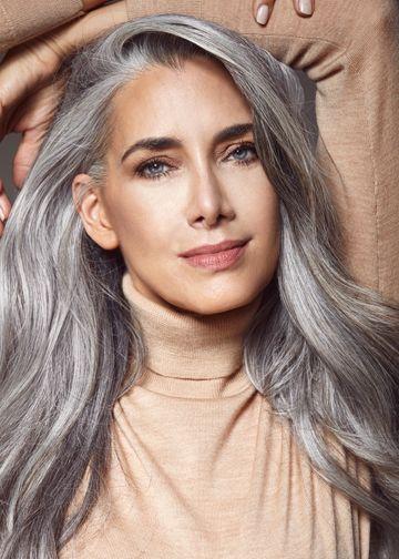 Manon Crespi Silver Haired Beauties Long Gray Hair Grey Hair Lowlights
