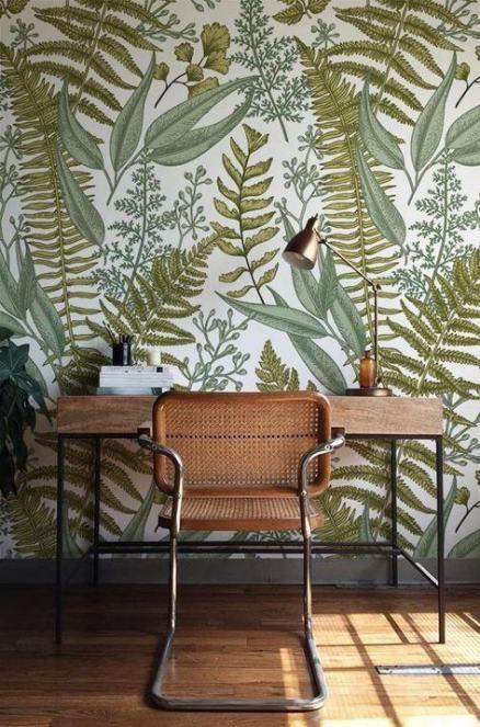 24 Trendy Painting Ideas Easy Boho Green Home Decor Home Wallpaper Fern Wallpaper