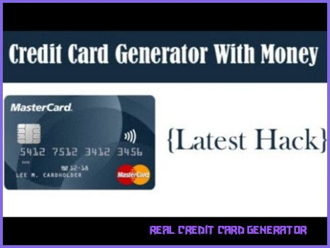 Why Is Everyone Talking About Real Credit Card Generator? real