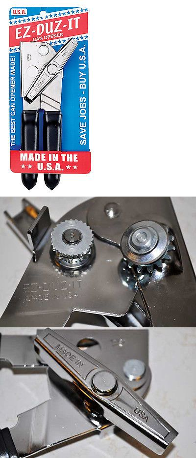 Ez Duz It Made In The Usa Manual Can Opener W Black Grips American Made 701142714052 Ebay Canning Can Opener American Made