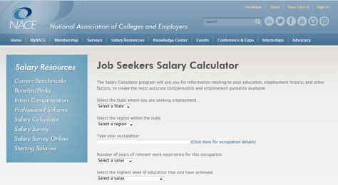 Educate to Career provides a salary calculator that takes into - salary calculator