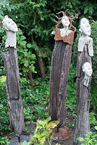 6 Ausstellung Kunst Im Garten Keramik Heidi Gerber Drei Grazien Gartenkeramik Skulpturen Garten Stelen Garten