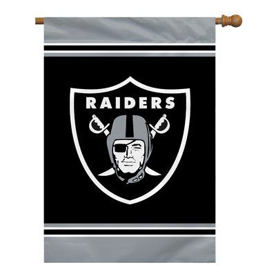Team Pro-Mark NFL House 2-Sided Polyester 3'4 x 2'4 ft. Banner NFL Team: Oakland Raiders