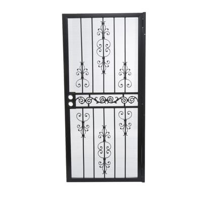 Unique Home Designs 36 In X 80 In El Dorado Black Surface Mount Outswing Steel Security Door With Heavy Duty Expanded Metal Screen 5hs620black36 The Home De Unique House Design Steel Security