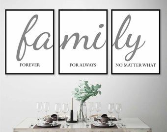 Family Sign Family A Little Bit Of Crazy Print Set Of 3 Prints Family Quotes Home Decor Signs Living Room Wall Art Bedroom Wall Decor Prints Home Decor Signs Wall Printables Wall Decor Bedroom