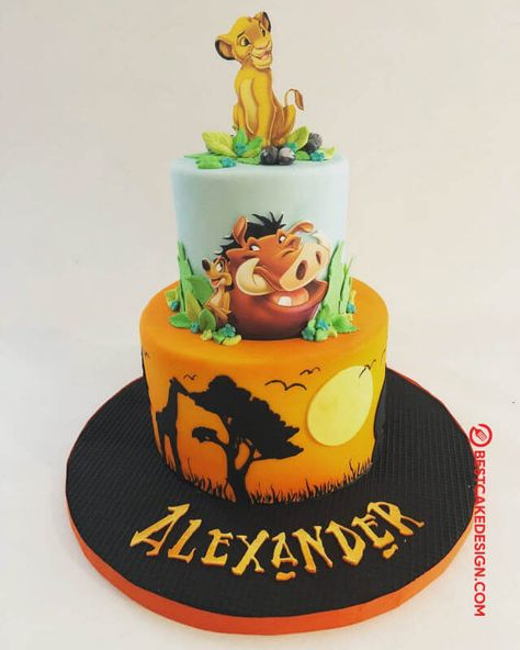 50 Most Beautiful looking Lion King Cake Design that you can make or get it made on the coming birthday. Lion King Theme, Lion King Party, Lion King Birthday, 1st Boy Birthday, Lion Birthday Cakes, Lion Cakes, Lion King Cakes, Tiger Cake, Lion King Baby Shower