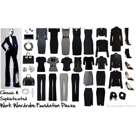 Work Wardrobe Foundation Pieces: Classic & Sophisticated by lauriehasler on Polyvore featuring polyvore, fashion, style, Dsquared2, M Missoni, L'Agence, T By Alexander Wang, Nina Ricci, Vivienne Westwood Anglomania and Moschino Cheap & Chic