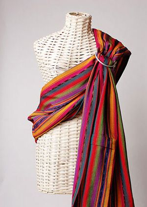 Maya Wrap Ring Sling Bright Stripes
