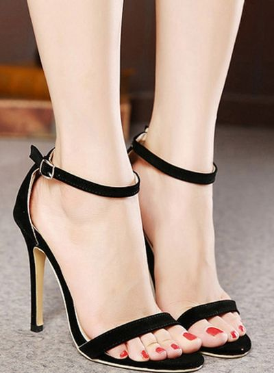 f447269ef6982 High heel sandals for women Simple Stiletto High Heel Ankle Strap Sandal  for Women - STYLESIMO.com