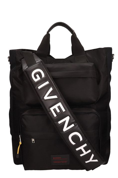 c5e87c794a GIVENCHY BLACK POLYAMIDE TOTE BAG.  givenchy  bags  shoulder bags  hand bags   tote